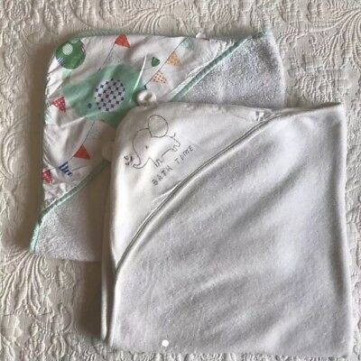 Unisex Hooded Baby Towels 2 Pack