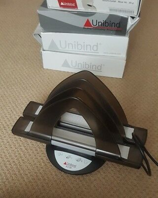 Unibind XU138 Thermal cover binder & EXTRA COVERS **Excellent condition**