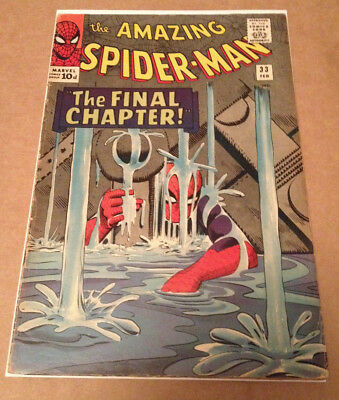 Amazing Spider-Man # 33 - Classic Ditko Cover & Art - Marvel Silver Age 1966