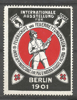 Germany/Berlin 1901 International Fire Protection & Fire Rescue Exhibition stamp