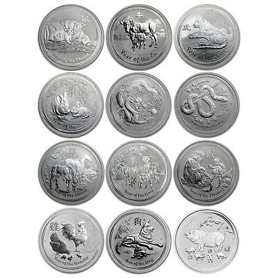 2008 - 2019 Complete 12 Year ~ PERTH MINT LUNAR SERIES 2 ~ Coin Collection .. #1