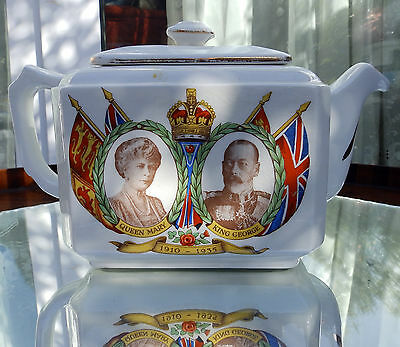 Royalty Commemoratives King George & Mary Maling Ware Ringtons Tea Pot