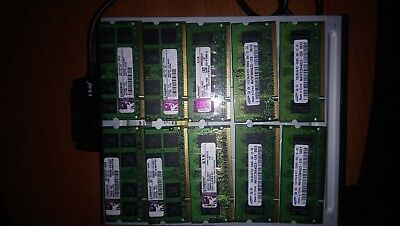 LOTTO 10 RAM SAMSUNG/ 1 GB DDR2 PC2 5300S 667 MHz 200 PIN SO DIMM NOTEBOOK