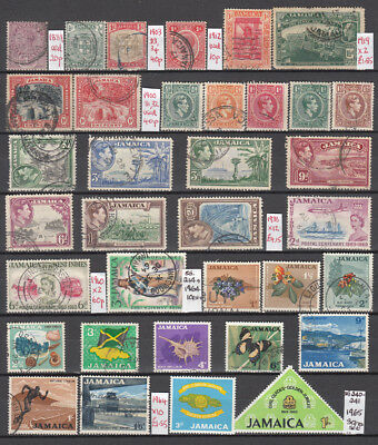 LOT 4 JAMAICA Stamps X35 DIFF. Some MINT.