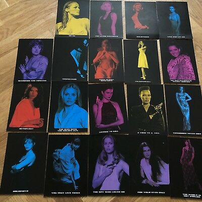 Set Of 19 James Bond, Bond Girl Collectors Cards