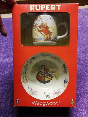 Wedgwood Rupert Bear Cup And Bowl still in box