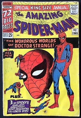 Amazing Spider-Man King-Size Annual #2 Ditko Dr Strange 1965 Very Good Condition