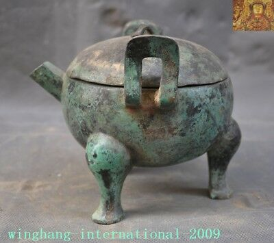 Old Dynasty Ancient Bronze Ware pot Wine container Wineware Crock Tank Pots