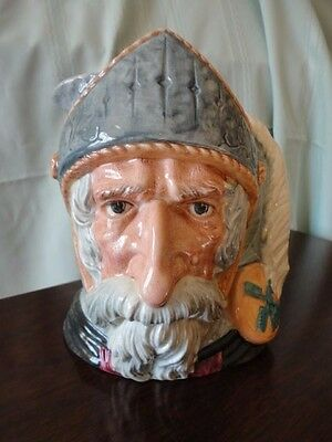 Royal Doulton Don Quixote Large Toby Jug Pitcher Character England 1956 Vintage