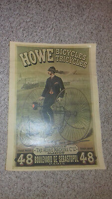Hochrad Tricycle 1880 Plakat
