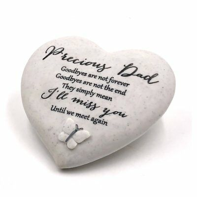 Precious DAD Memorial Butterfly Heart Grave Remembrance Ornament Gift