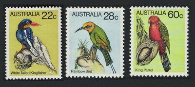SALE Australia Kingfisher Bee Eater King Parrot Birds 3v issue 1980 MNH FREE