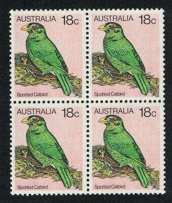 SALE Australia Spotted Catbird 1v 18c issue 1980 Block of 4 MNH SG#734b FREE
