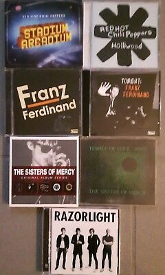 Red Hot Chili Peppers, Franz Ferdinand, Sisters of Mercy, Razorlight - 11 CDs