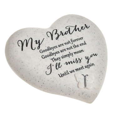 My Brother Memorial Butterfly Heart Grave Remembrance Ornament Gift
