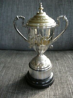 Vintage Silver Plated Trophy / Cup. The Ashurst Trophy. Golf?