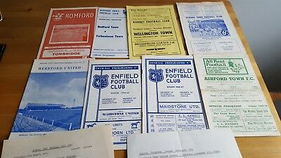 Small Collection 1960's Non League Football Programmes x 10 inc Single Sheets