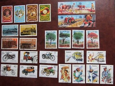 Lot 216)  Collection ZIMBABWE  6 Fine USED sets of stamps 1980 / 1986