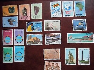 Lot 217)  Collection ZIMBABWE  7 Fine USED sets of stamps 1980 / 1986