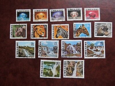Lot 219)  ZIMBABWE  Fine USED set of stamps 1980 complete to $2