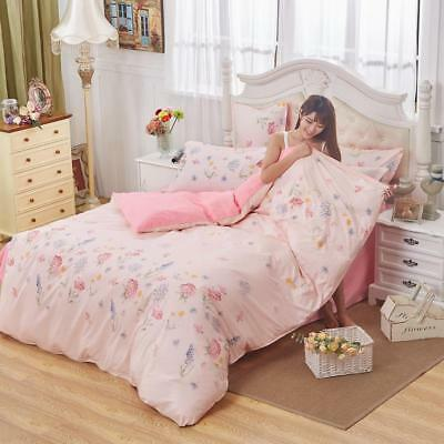 HOT Floral Twin Queen Lady Bed Set Pillowcase Duvet/Quilt Cover tUKr xqx