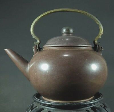RARE Antique Yixing Zisha JUMBO Teapot, Qing Dynasty 19th Century Gong-Gek