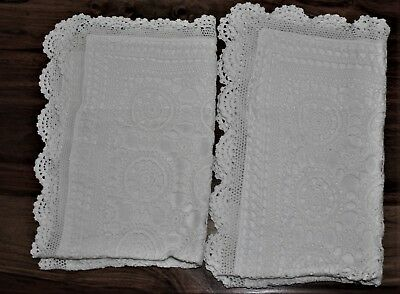 Vintage Crochet Fronted Pillowcases