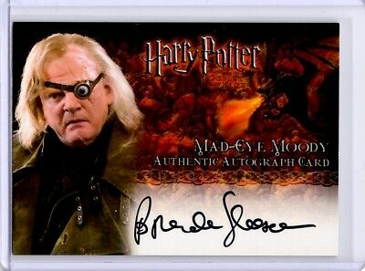 Harry Potter Mad-Eye Moody Brendan Gleeson Auto Autograph Card Goblet of Fire