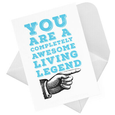 You're a Living Legend Thank You Card (Cheeky Funny Humour Fun Male) JC0043