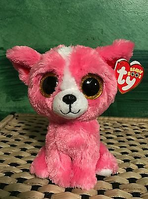 """7e7791294a6 ... CANCUN the Pink Chihuahua - NWT Retired NEW Glitter Eyes.  9.77 Buy It  Now 1d 21h. See Details. Ty PASHUN -Pink White Chihuahua 6"""" Beanie Boo!"""