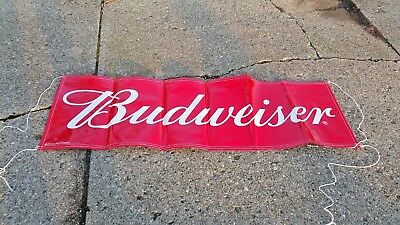 budweiser 6 foot  beer banner ..fast free shipping