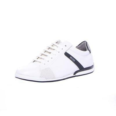 caed3b93d8 HUGO BOSS SATURN Lowp Iux4 50401835 001 Mens Trainers Black Leather ...