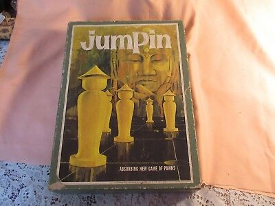 "Great Vintage 1964 ""JUMPIN"" Game 3 M Bookshelf Game of Pawns In Original Box"