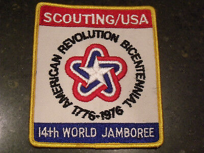 Boy Scout 14th World Jamboree Scouting/USA BSA Contingent Jacket Back Patch