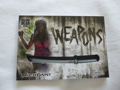 The Walking Dead Hunters & The Hunted Michonne  Weapon Medallion Card WM-KM
