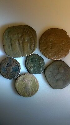 Six Mixed Byzantine Coins Includes Pseudo Syrian Coin