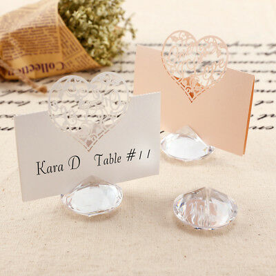 10/20 stand support acrylique porte carte nom photo marque place table mariage