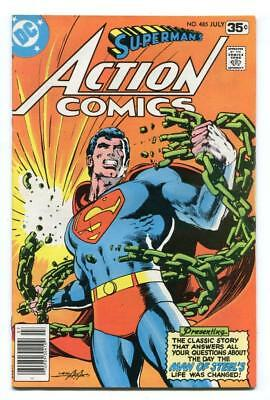 Action Comics #485 - Classic Neal Adams Cover - Superman Life Story - 1978