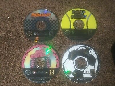 Mario Kart Double Dash Baseball Tennis Mario Strikers 4 gamecube collectors Lot