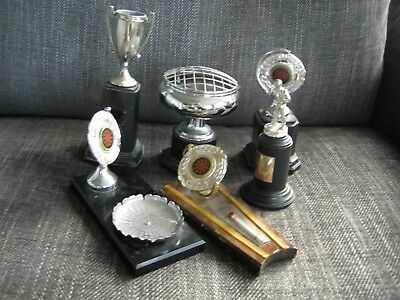 6 x vintage darts trophy plaques, trophy, trophies, darts, see photos