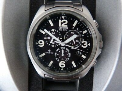 Citizen Eco Drive Promaster Funk Solar Chronograph mit Edelstahlarmband in OVP