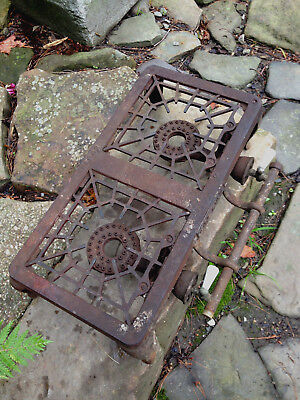 ANTIQUE Pat. 1161b GAS STOVE GRISWOLD 602 OLD tableTOP CAST IRON DOUBLE BURNER