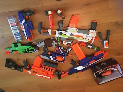 Huge nerf gun bundle Incl Accessories