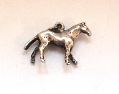 Sterling 925 Silver Horse Equestrian Wildlife Animal Country Charm Pendant Bet