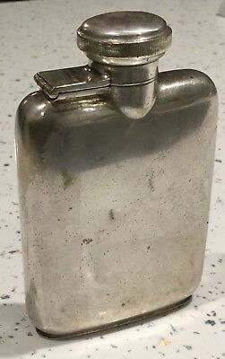Antique Goldsmith & Silversmith Silver Plated Small Hip Flask