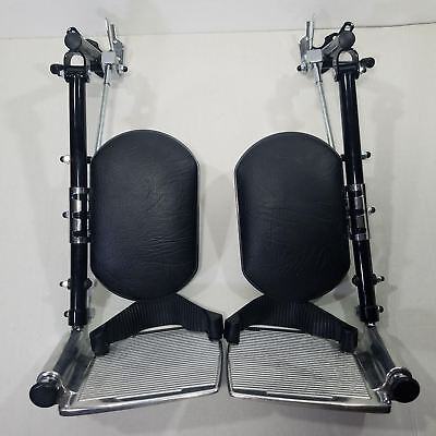 Wheelchair LegRests Padded with Calf Pads and Metal Footplates
