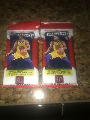 (2) 2018-19 Panini NBA Hoops Basketball Trading Cards 30ct. Fat Pack Free Ship!!