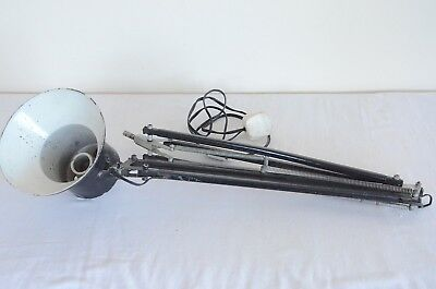 Vintage anglepoise industrial style black lamp
