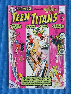 Showcase # 59 - (Vg) - 3Rd Appearance Of The Teen Titans - Kid Flash, Robin