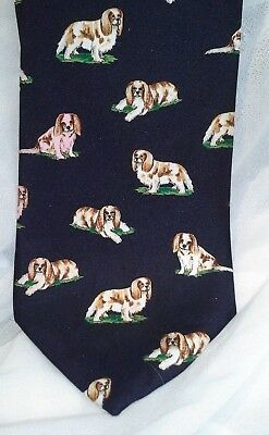 Cavalier King Charles Silk Men's Clothing Accessory SILK Tie BY  ALYNN NECK WARE